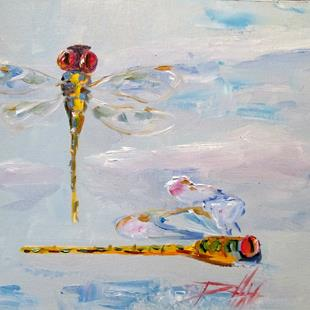 Art: Dragonflies No. 5 by Artist Delilah Smith