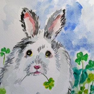 Art: Irish Rabbit by Artist Delilah Smith