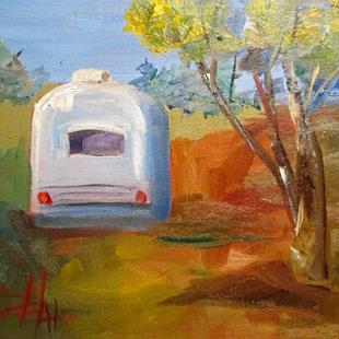 Art: Airstream by Artist Delilah Smith