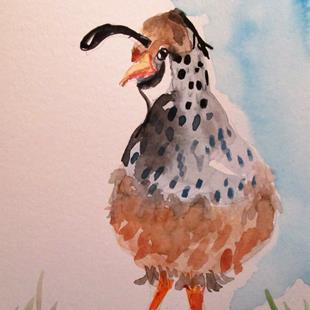 Art: Quail by Artist Delilah Smith
