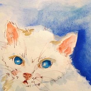 Art: White Kitten by Artist Delilah Smith