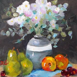 Art: Flowers and Fruit by Artist Delilah Smith