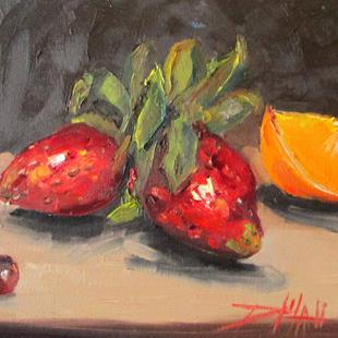 Art: Strawberry Still Life by Artist Delilah Smith