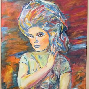 Art: Debbie Harry, Hairspray Pop Art Portrait by Artist Paul Lake, Lucky Studios