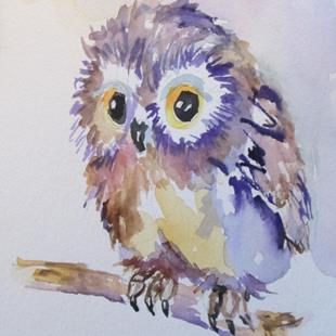 Art: Fluffy Owl by Artist Delilah Smith