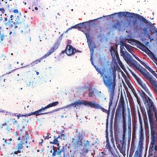 Art: Colors Saluki 1 by Artist Melinda Dalke