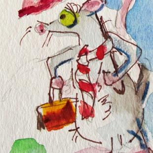 Art: Business Mouse by Artist Delilah Smith