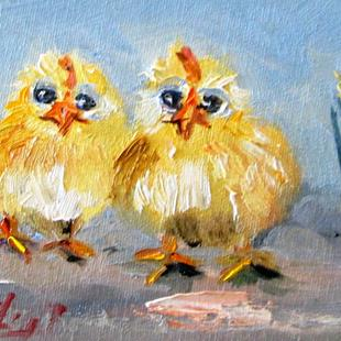 Art: Baby Chick by Artist Delilah Smith