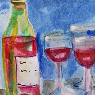 Art: Red Wine by Artist Delilah Smith