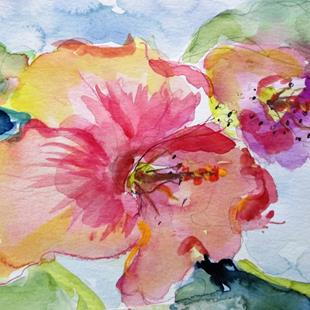Art: Pink Hibiscus by Artist Delilah Smith