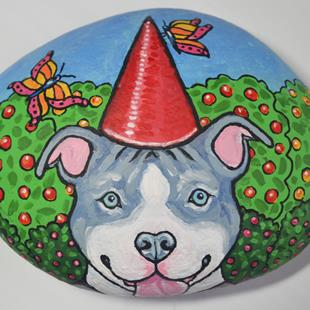 Art: Orchard the Pibble Gnome by Artist Melinda Dalke