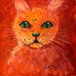 Art: Orange Kitty by Artist Ulrike 'Ricky' Martin