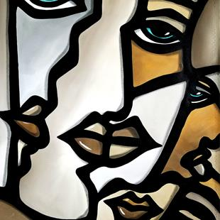Art: Cubist 143 2638 F Original Cubist Art Still Alive 1 by Artist Thomas C. Fedro