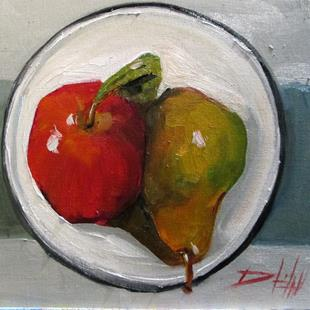 Art: Apple and Pear by Artist Delilah Smith