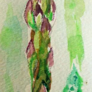 Art: asparagus by Artist Delilah Smith