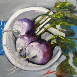 Art: Turnips on a Plate by Artist Delilah Smith