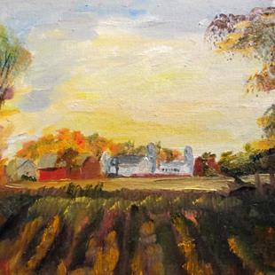 Art: Midwestern Farm by Artist Delilah Smith