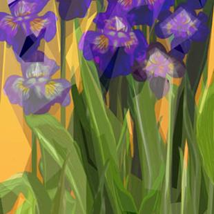 Art: irises by Artist Alma Lee