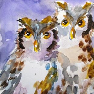 Art: Owls by Artist Delilah Smith