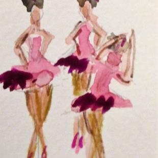 Art: Ballerinas by Artist Delilah Smith