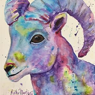 Art: Big Horn Sheep by Artist Ulrike 'Ricky' Martin
