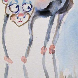 Art: Long Legged Monkey by Artist Delilah Smith
