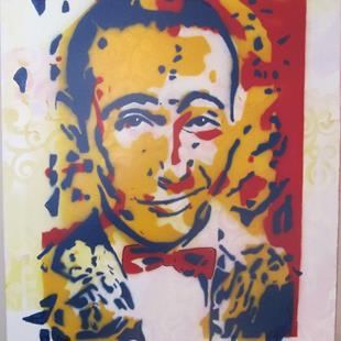 Art: Pee Wee Herman Confetti Original Graffiti Pop Art by Artist Paul Lake, Lucky Studios