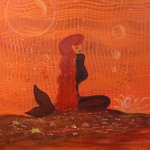 Art: M #CherelleArt Mermaids Galore Red by Artist Cherelle Art