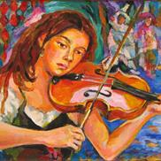 Art: The Violinist by Luda Angel