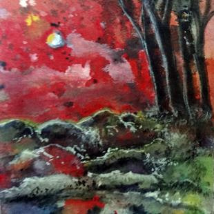 Art: Woods At Sunset by Artist Vicky Helms