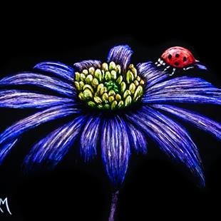 Art: Ladybug Lounge  (SOLD) by Artist Monique Morin Matson