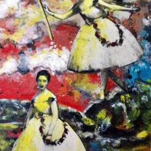 Art: It's a Wonderful Day for Ballerinas by Artist Vicky Helms