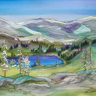 Art: Sheila Lake (sold) by Artist Kathy Crawshay