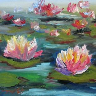 Art: Lily Pond No.7 by Artist Delilah Smith