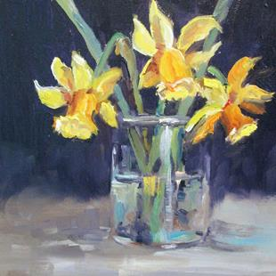 Art: Spring Daffodils by Artist Delilah Smith