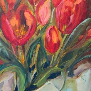 Art: Spring Tulips by Artist Delilah Smith