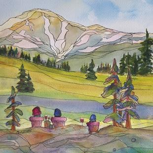 Art: View of Raft Mountain by Artist Kathy Crawshay