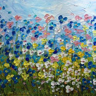 Art: Wildflowers  custom painting by Artist LUIZA VIZOLI