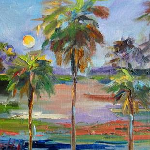 Art: Tropical Palms No. 2 by Artist Delilah Smith