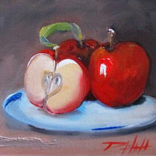 Art: Apples on a Plate No. 8 Apple Series by Artist Delilah Smith