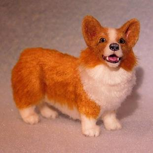 Art: Silk Furred Pembroke Welsh Corgi by Artist Camille Meeker Turner