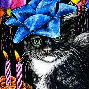 Art: Daisy Fay's Birthday  (SOLD) by Artist Monique Morin Matson