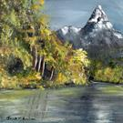 Art: Snowy Peak by Artist Janet M Graham