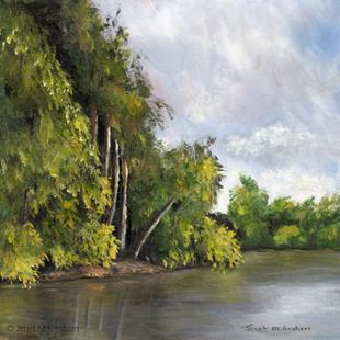 Art: Tranquil River by Artist Janet M Graham