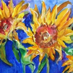 Art: Bold Sunflowers by Artist Delilah Smith