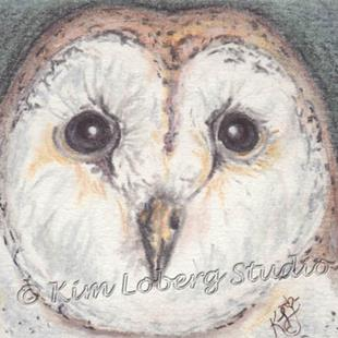 Art: Barn Owl by Artist Kim Loberg