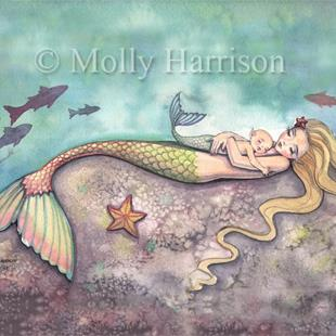 Art: Mermaid Lullaby for 8 x 10 low res by Artist Molly Harrison