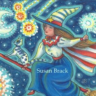 Art: WITCHES FLY HIGH ON THE FOURTH OF JULY by Artist Susan Brack