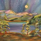 Art: Enjoying the View (sold) by Artist Kathy Crawshay