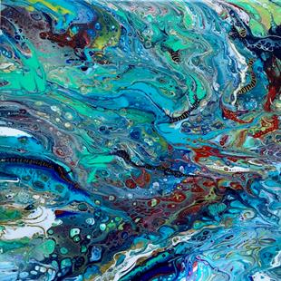 Art: Fluid  Acrylic Abstract by Artist Ulrike 'Ricky' Martin